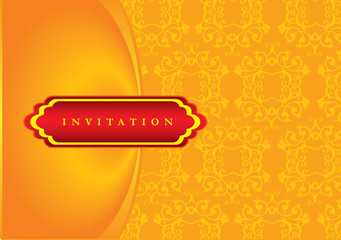 Beautiful Oriental Style Invitation Design in Red and Gold