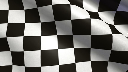 Realistic Ultra-HD Checkered Flag. Looped.