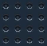 Dotted black metallic Seamless pattern background