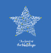 Handwritten Christmas star card Word Cloud design - 73393992