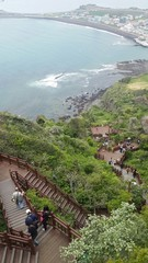 Long staircase in Jeju-Do South Korea