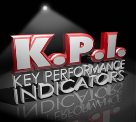 KPI Key Performance Indicators Words Spotlight Evaluation Review