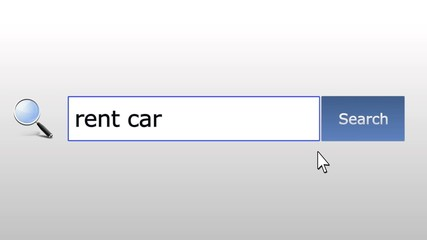 Rent car - graphics browser search query, web page