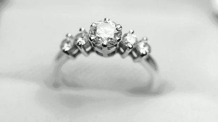 Diamond with white gold Ring