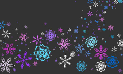 color vector background with snowflakes