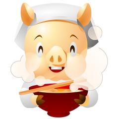 """Tonjiru"" Japanese miso soup with pork and vegetable"