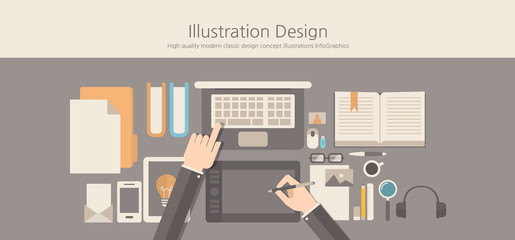 Modern and classic design illustration designer concept.