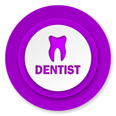 dentist icon, violet button