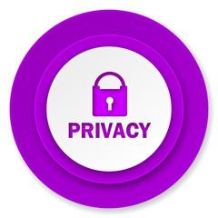 privacy icon, violet button