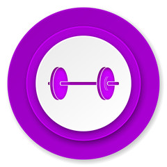 fitness icon, violet button