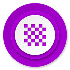 chess icon, violet button