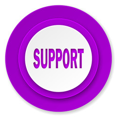 support icon, violet button