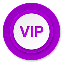 vip icon, violet button