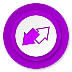 exchange icon, violet button