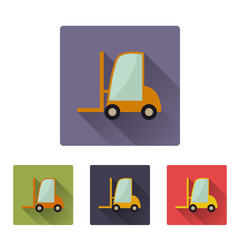 Flat loader icon set