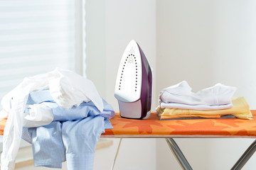 Clothes ready for ironing