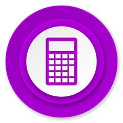 calculator icon, violet button
