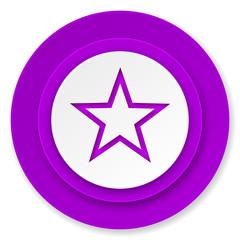star icon, violet button