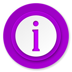 information icon, violet button