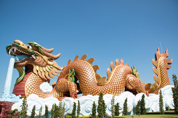 Dragon shrine in Suphan Buri Province