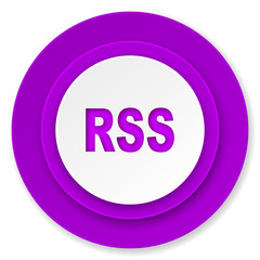 rss icon, violet button