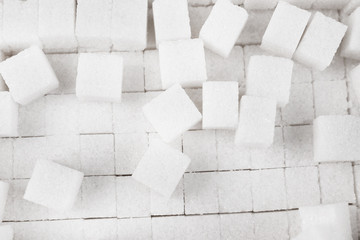 White refined sugar background