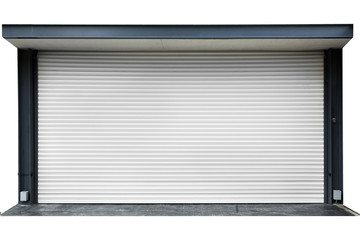 Shutter door  and floor isolated
