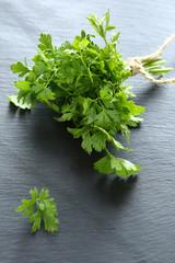 fragrant parsley on a slate