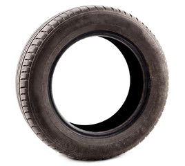 Tyre isolated on white