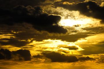 Clouds over the Atlantic Ocean