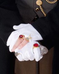 Magician Hands with Gloves and Rings