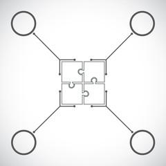 Puzzle timeline design template