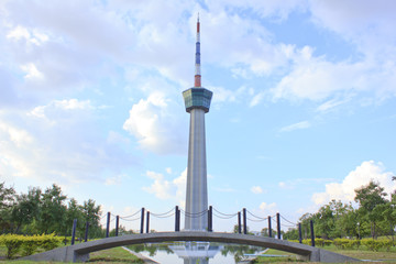 Tower In Memorial Park - Stock Image