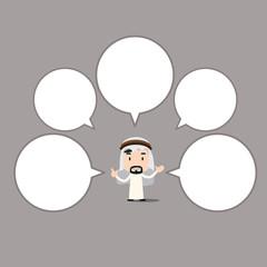 Arab businessman character - speech bubble