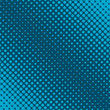 Halftone of turquoise dots on dark background