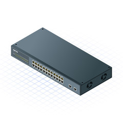 Isometric Switch 24 Ports with 2 Uplink Ports