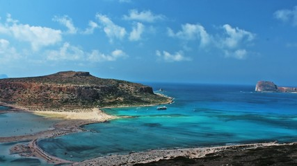 Beautiful Balos Lagoon and Gramvousa island on Crete, Greece.