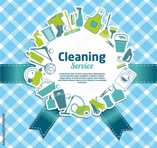Cleaning service illustration. - 73400588