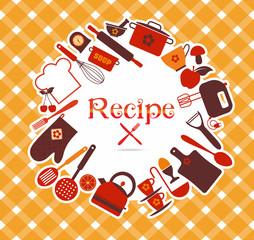 Recipe vector illustration