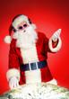 Leinwanddruck Bild - mixing santa
