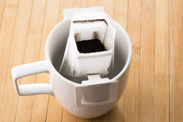 Instant freshly brewed coffee