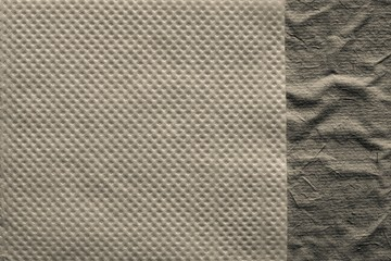 combination two paper textures of beige color