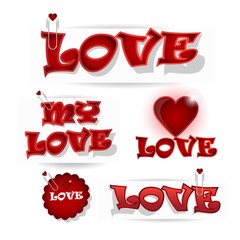 be my valentine love typography