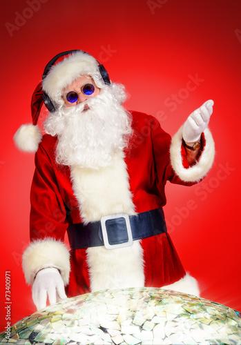 Leinwanddruck Bild mixing santa