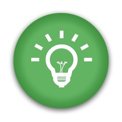 Glühbirne Button grün - Konzept