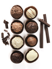 assortment of fine chocolates