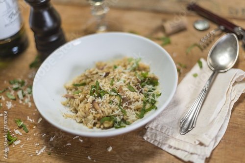canvas print picture Risotto mit