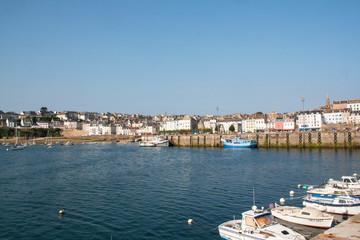 Panorama du  port du Rosmeur à Douarnenez, Finistère, Bretagne
