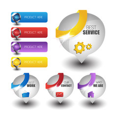 web buttons for website or app. Vector eps10