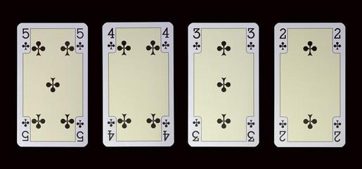 Spielkarten der Ladys - KREUZ